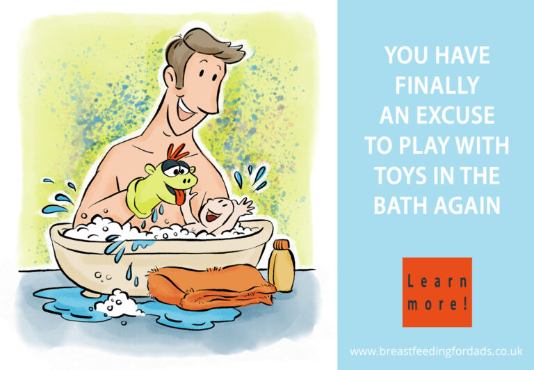 Dads can play with bath toys again